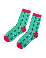Chiristmas Trees Socks Green