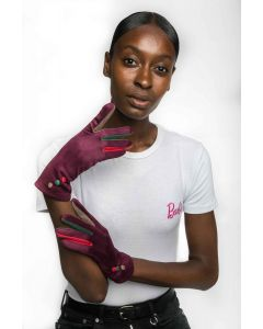 Agnes Gloves Plum