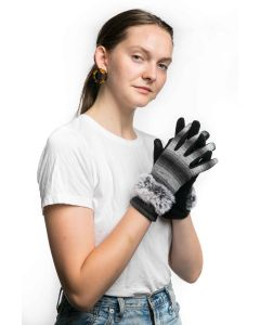 Rose Gloves Black