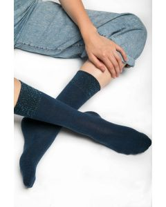 Glitter Socks Navy
