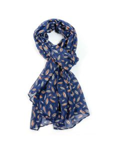 Grains Scarf Navy