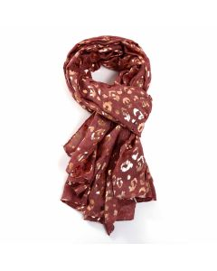 Leopard Scarf Red