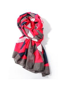 Abstract Scarf Fuchsia