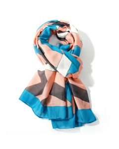 Abstract Scarf Pale Pink