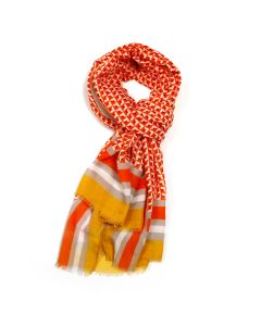 Little Squares Scarf Orange