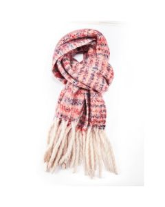 Winter Thin Stripes Scarf Orange