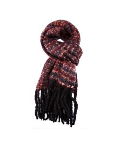 Winter Thin Stripes Scarf Plum