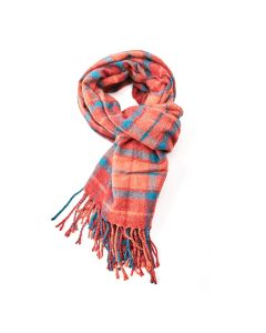 Alice Tartan Scarf Orange