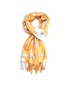 Thick Floral Scarf Mustard