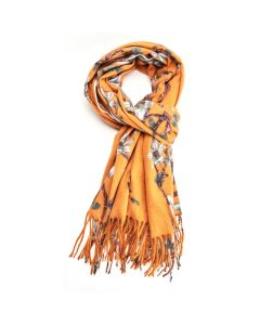 Thick Magnolia Scarf Mustard