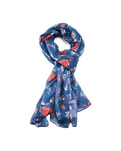 Floral Scarf Navy