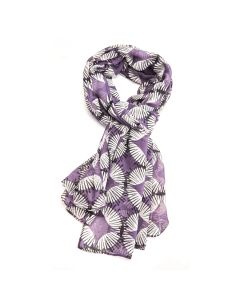 Scandi Circles Scarf Dusky Purple