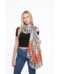 Scallops Scarf Coral
