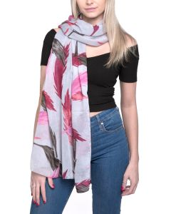 Feather Scarf Pink