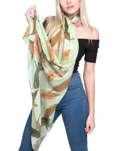 Feather Scarf Green