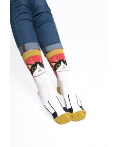 Kitty Cat Socks Red
