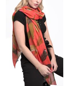 Feather Scarf Coral