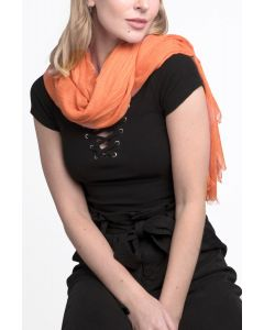 Soft Plain Scarf Orange