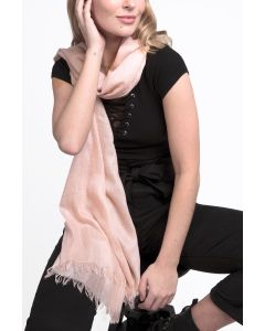 Soft Plain Scarf Blush