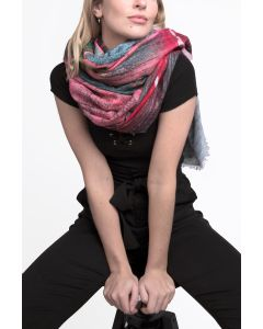 Abstract Scarf Pink
