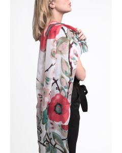 Summer Garden Scarf White