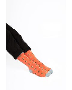 Honey Bees Socks Coral