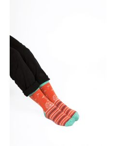 Dandelion Clocks Socks Orange