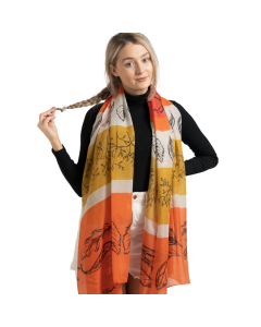 Botanical Sketches Scarf Orange