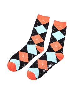 Mr Heron Argyle Socks Black