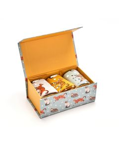 CATS AND SPOTS SOCKS BOX