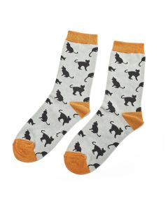 Cats Socks Duck Egg