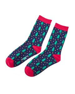 Chiristmas Trees Socks Navy
