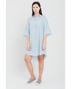 Blue Stripes Linen Dress