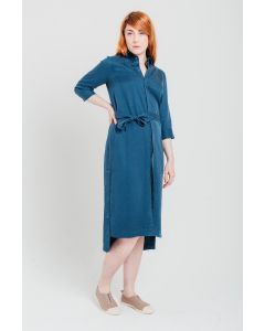 Blue Long Tencel Dress