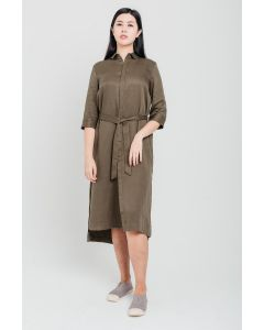 Green Long Tencel Dress