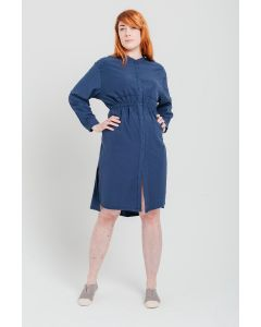 Waisted Dress Navy