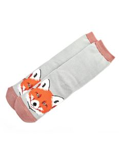 Fox Face Socks Duck Egg