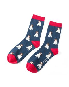 Fox Terrier Socks Navy