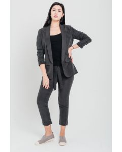 Dark Grey Linen Tencel Jacket
