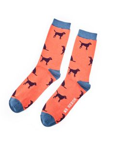 Mr Heron Labrador Socks Orange