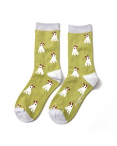 Fox Terrier Socks Olive