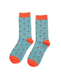 Honey Bee Socks Dusky Teal