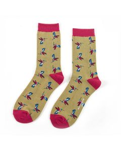 Hummingbirds Socks Olive