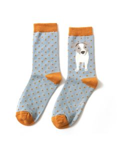 Jack Russell Pup Socks Duck Egg