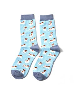 Jack Russells Socks Powder Blue