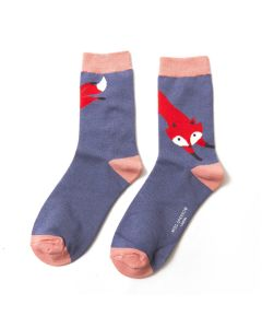Leaping Fox Socks Cornflower
