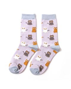 Little Kitties Socks Silver