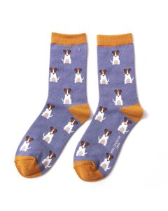 Mini Jack Russells Socks Cornflower
