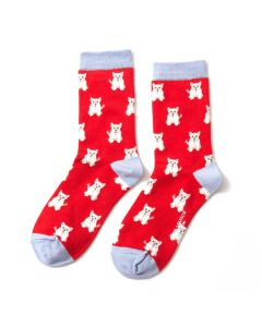 Mini Westies Socks Red
