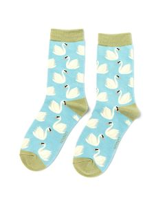 Swans Socks Light Blue